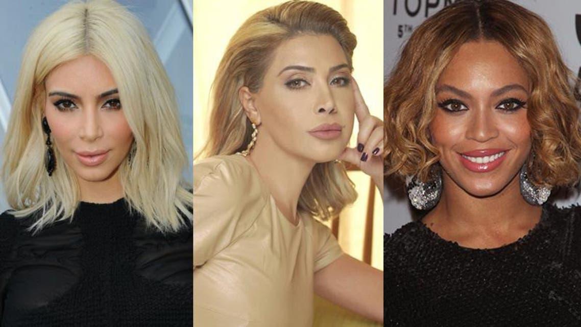 نوال الزغبي و Kim Kardashian و Beyonce