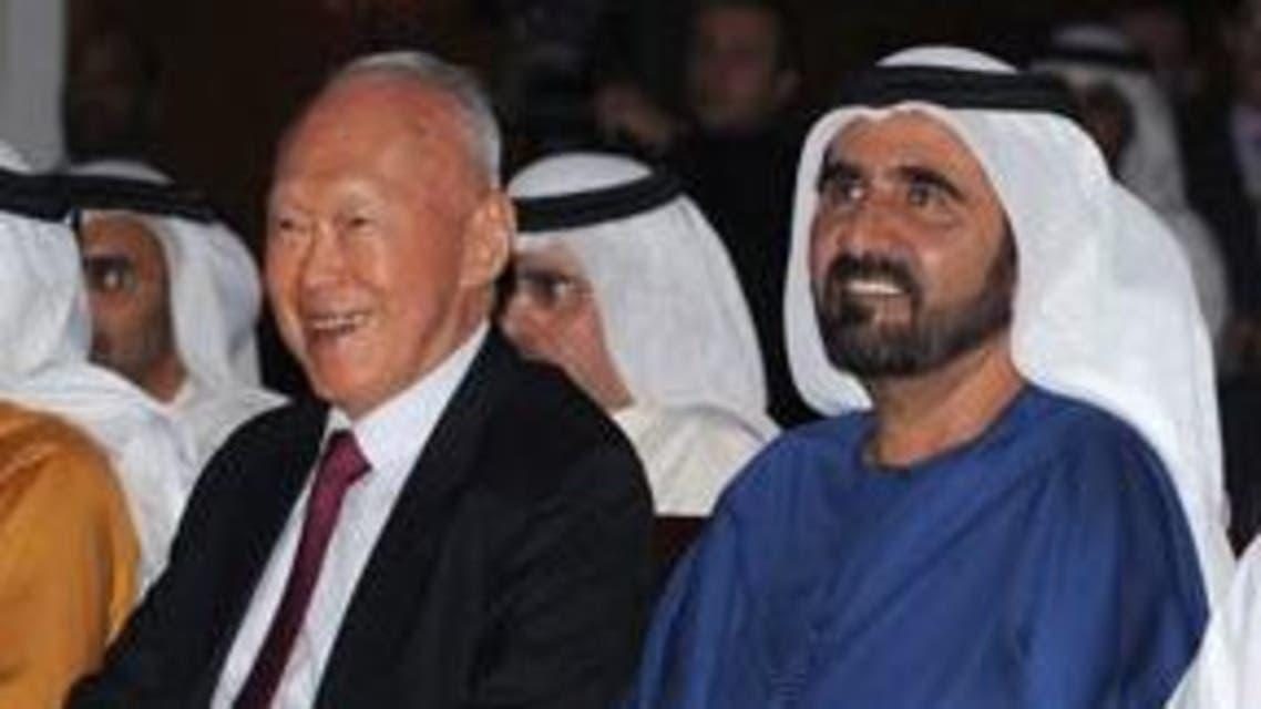 محمد بن راشد و لي كوان يو