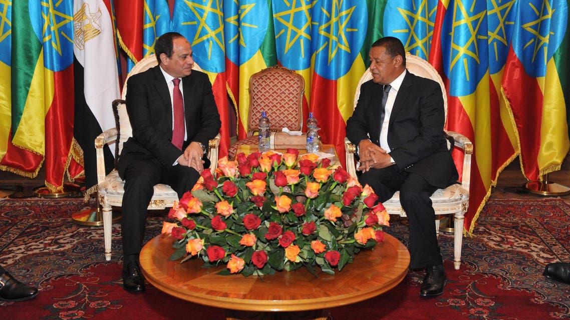 3الرئيس عبد الفتاح السيسي خلال لقائه الرئيس الاثيوبي مولاتو تشومي