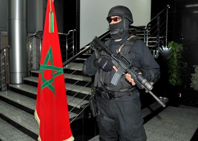 عنصر من فرقة النخبة للشرطة في المغرب