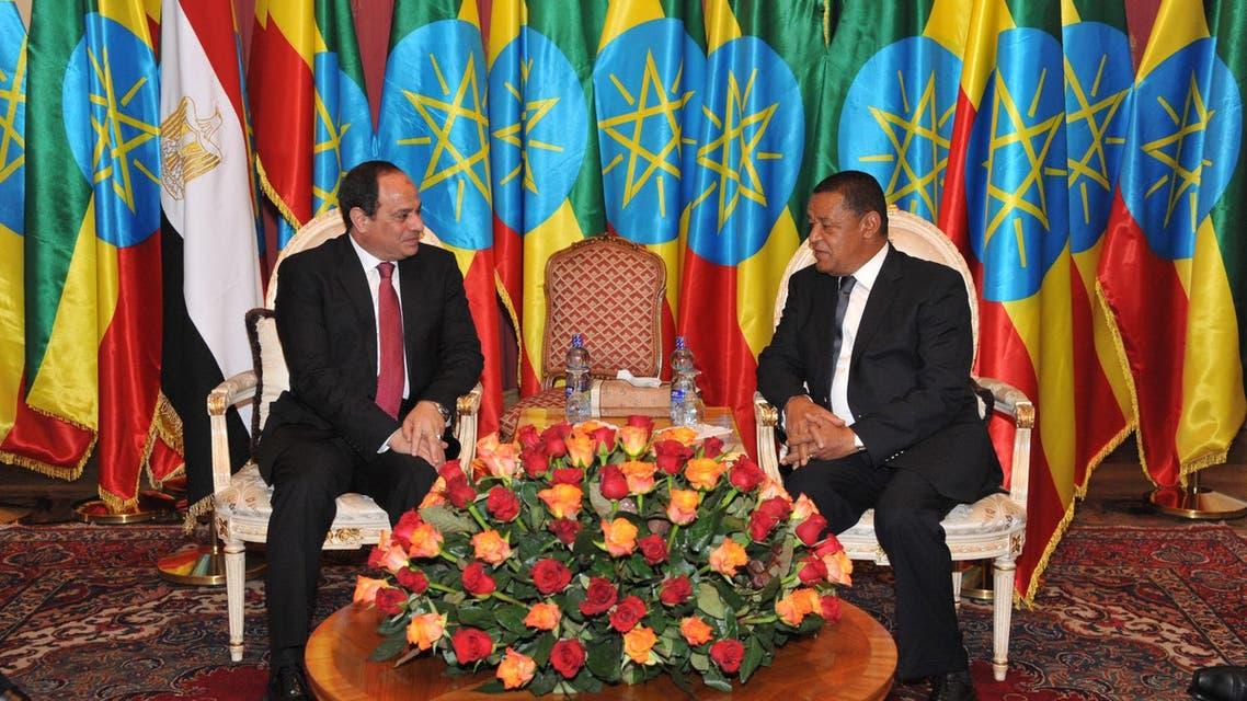 السيسي ورئيس إثيوبيا يعلنان التعاون بكافة المجالات