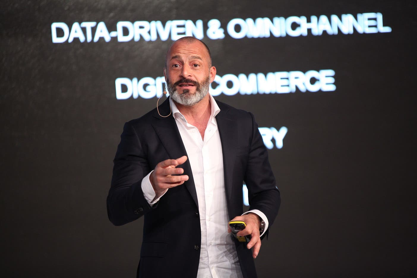 Professional speaker, and marketing and media expert Igor Beuker speaking at DMF. (Courtesy: SPOTON Media and Events)