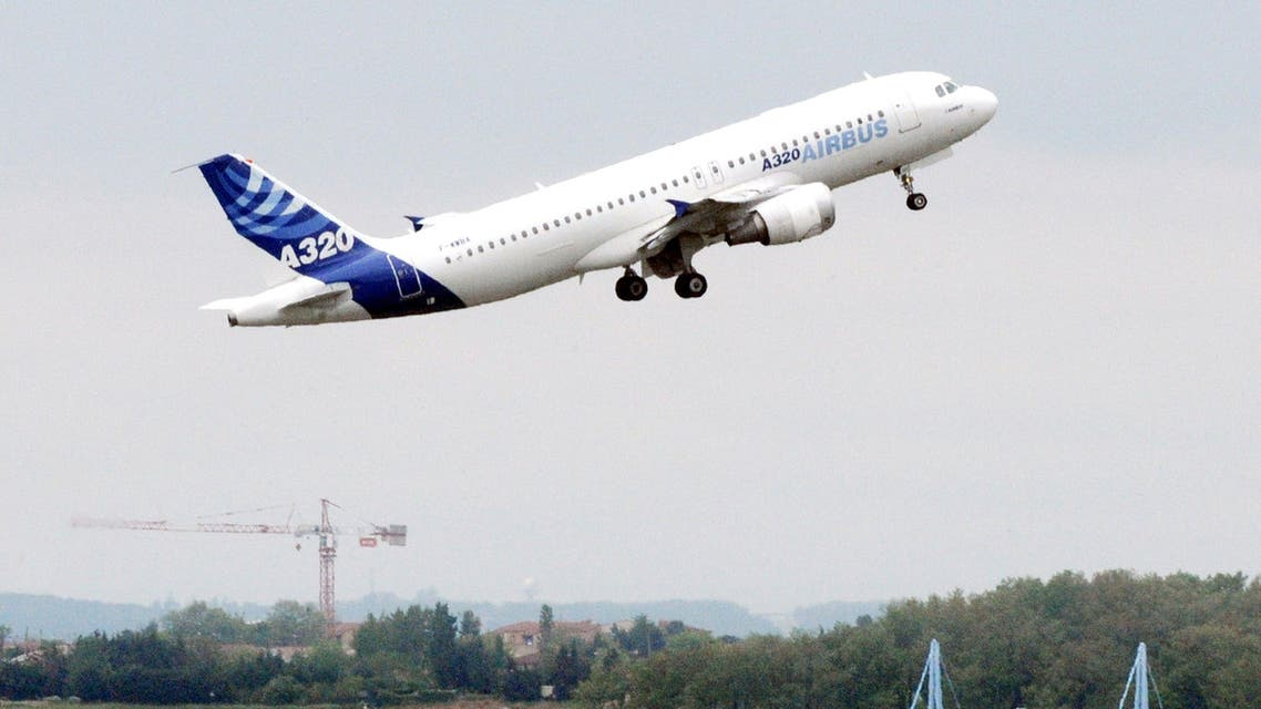 A photo taken on April 30, 2010 shows an Airbus 320 aircraft taking off in Toulouse, southern France. An Airbus A320 plane crashed on March 24, 2015 in the southern French Alps, security sources said. One of the sources said the plane belonged to Germanwings, an affiliate of German airline Lufthansa, travelling between Barcelona and Dusseldorf.