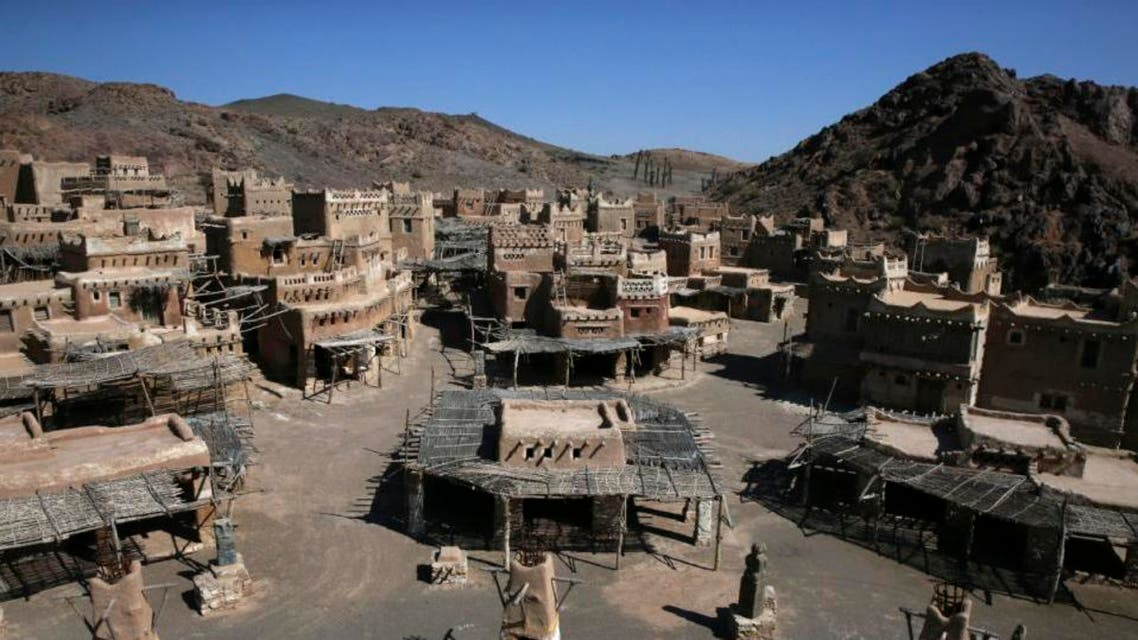 """This picture taken on Saturday, Feb. 28, 2015, shows replica of buildings of Mecca in Saudi Arabia, a scene of """"Mohammad, Messenger of God"""" movie. (AP)"""