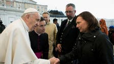 Pope meets relatives of Britons slain by ISIS