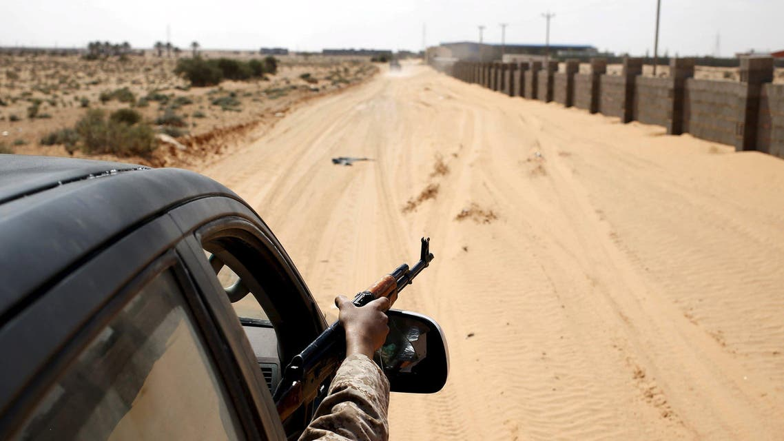Libya Dawn fighters patrol with a vehicle near Sirte March 19, 2015. (Reuters)