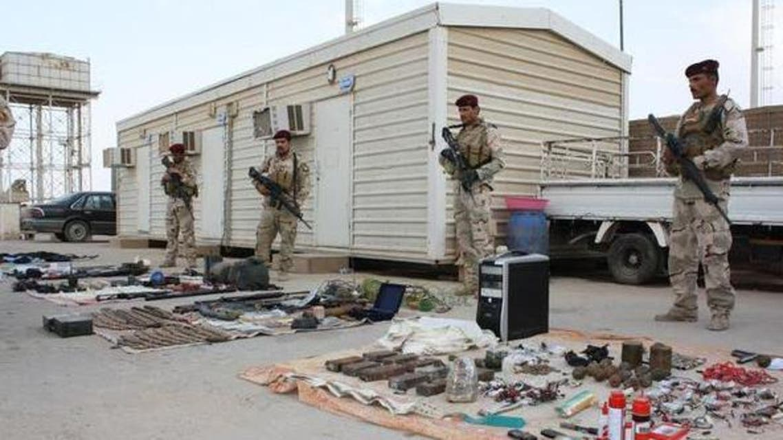 القوات العراقية المشتركة تضبط مصنع متفجرات واسلحة لتنظيم داعش