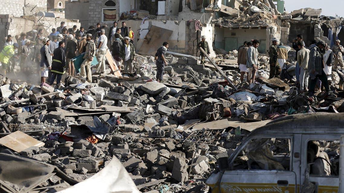 قصف السعودية على الحوثيين