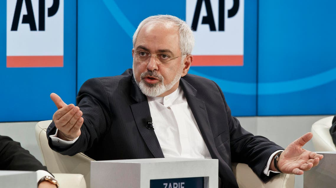 "ranian Foreign Minister Mohammad Javad Zarif, gestures as he speaks during a panel discussion ""The Geopolitical Outlook"" at the World Economic Forum, Friday, Jan. 23, 2015. (AP)"