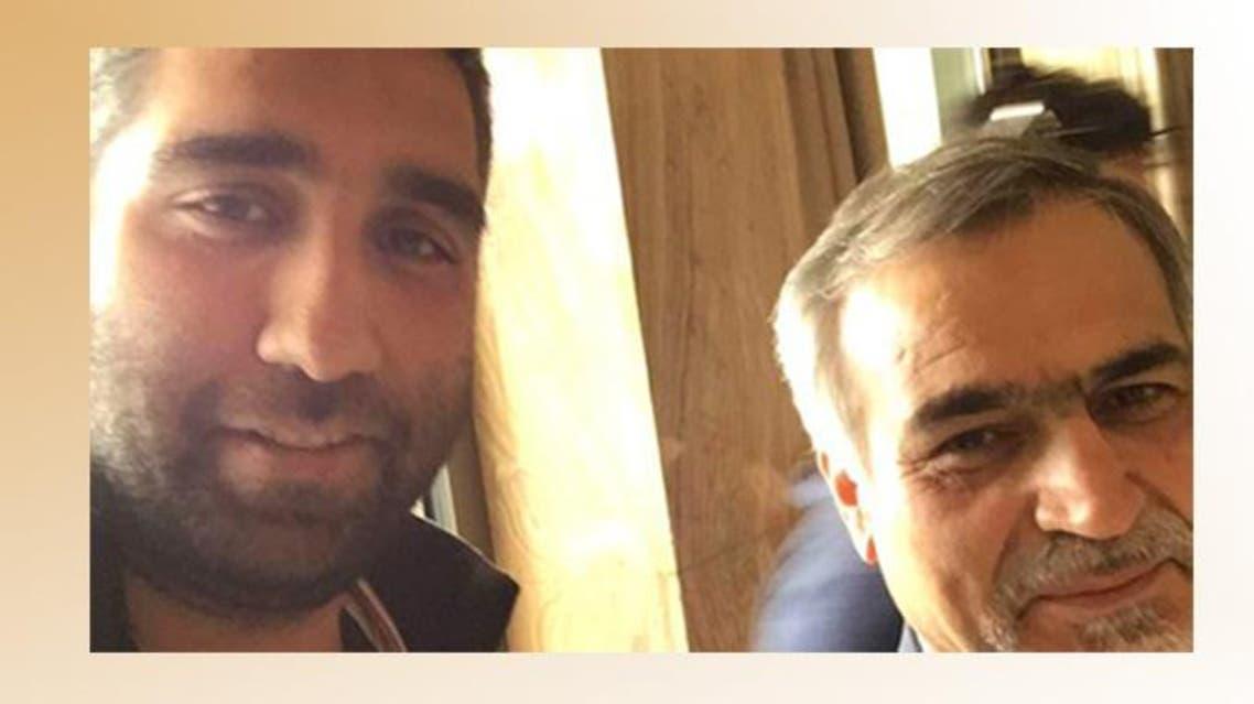 من اليمين شقيق حسن روحاني وأمير حسين تقوي
