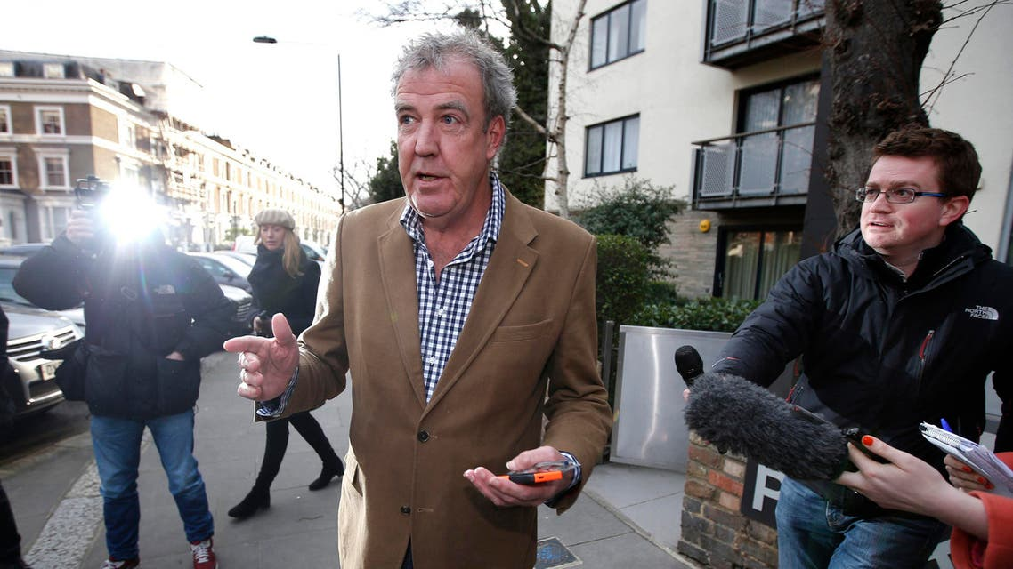 British television presenter Jeremy Clarkson leaves his home in London March 24, 2015. Reuters