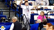 'Happy' dancing boy shows moves at U.S. basketball game
