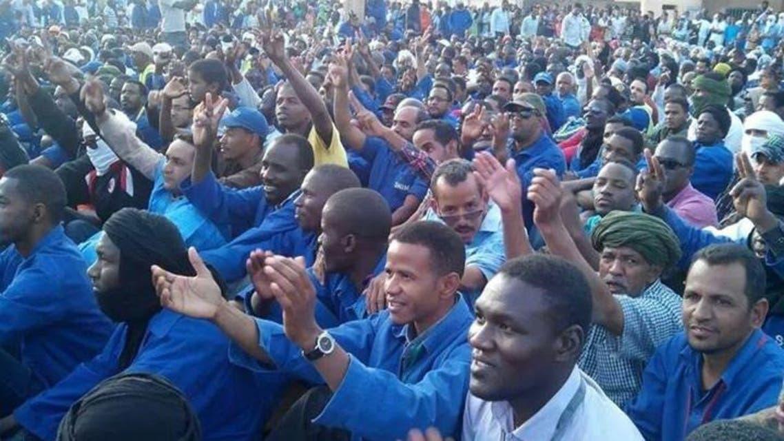 عمال موريتانيون في إضراب