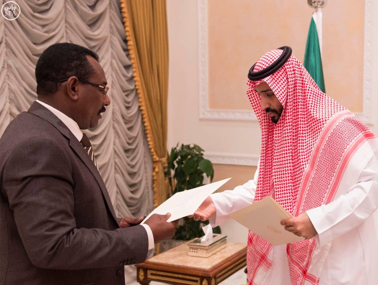 .. خلال تسلمه رسالة من الرئيس السوداني