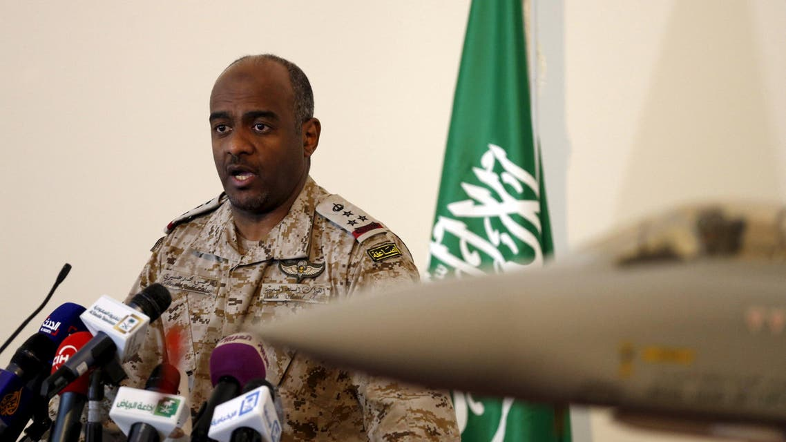 The official spokesman for the Saudi Ministry of Defense Gen. Ahmed Hassan al-Asiri speaks during news conference in Riyadh March 26, 2015. Reuters
