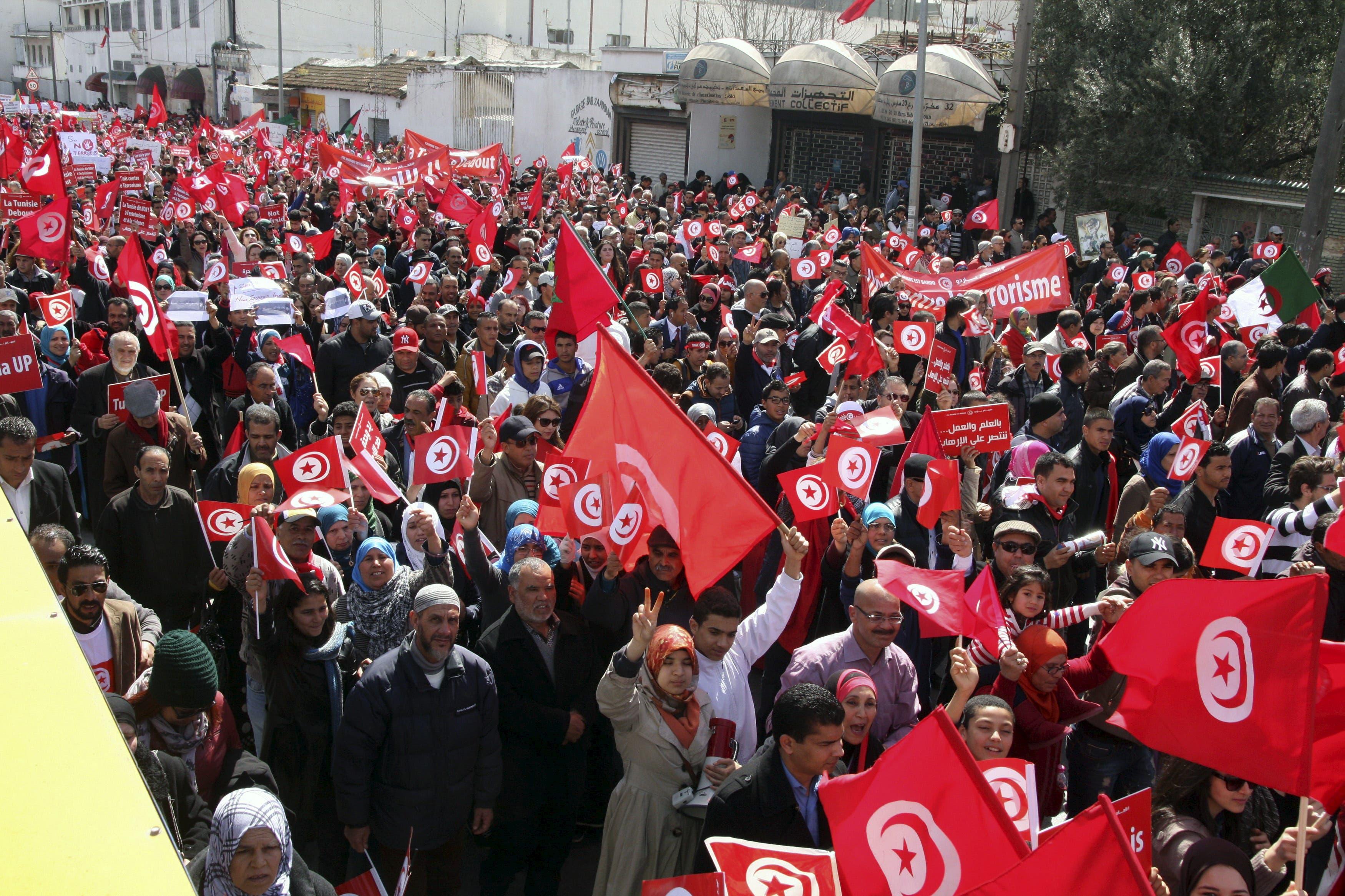 Tunisians march after Bardo Attack
