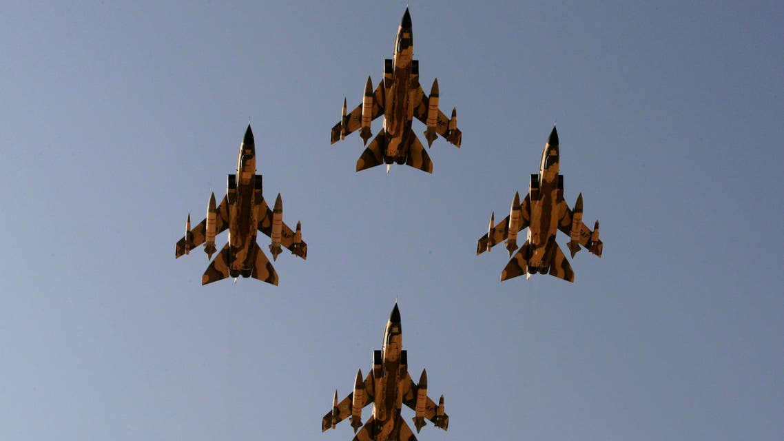 In this Sunday, Jan. 25, 2009 file photo, Tornado warplanes of the Saudi Air Force fly over the Saudi Arabian capital Riyadh during a graduation ceremony at King Faisal Air Force University. (File photo AP)