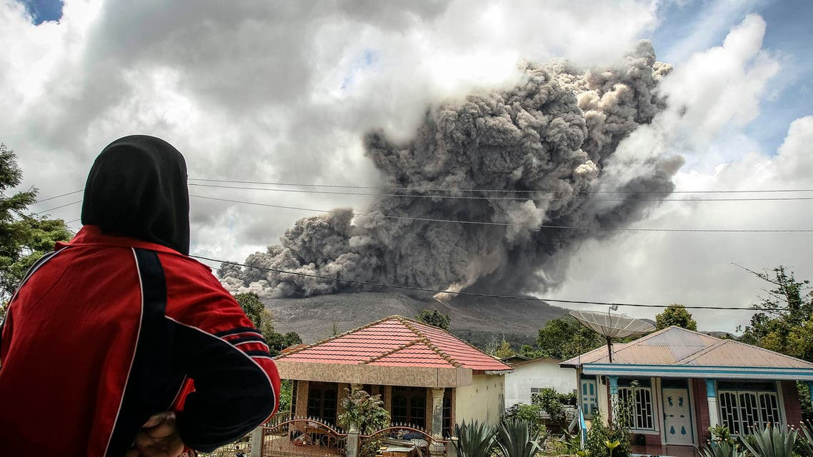 Pyroclastic flows, lava erupt from Mount Sinabung
