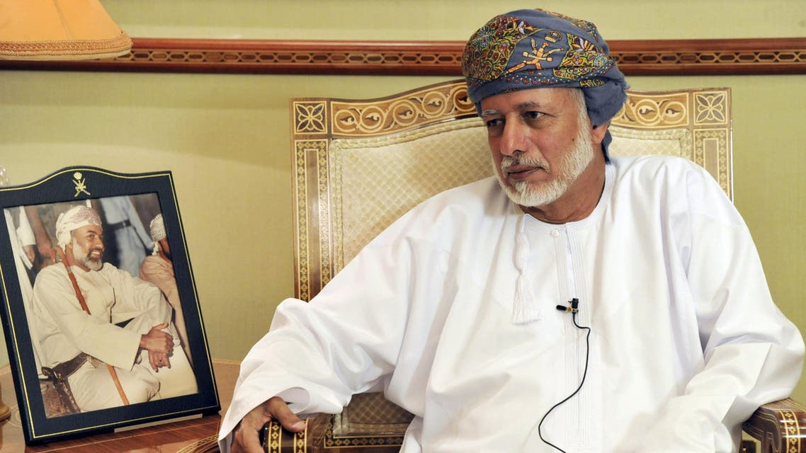 Oman's Foreign Minister Yusuf bin Alawi is seen during an interview with Reuters in Muscat April 2, 2015. (Reuters)