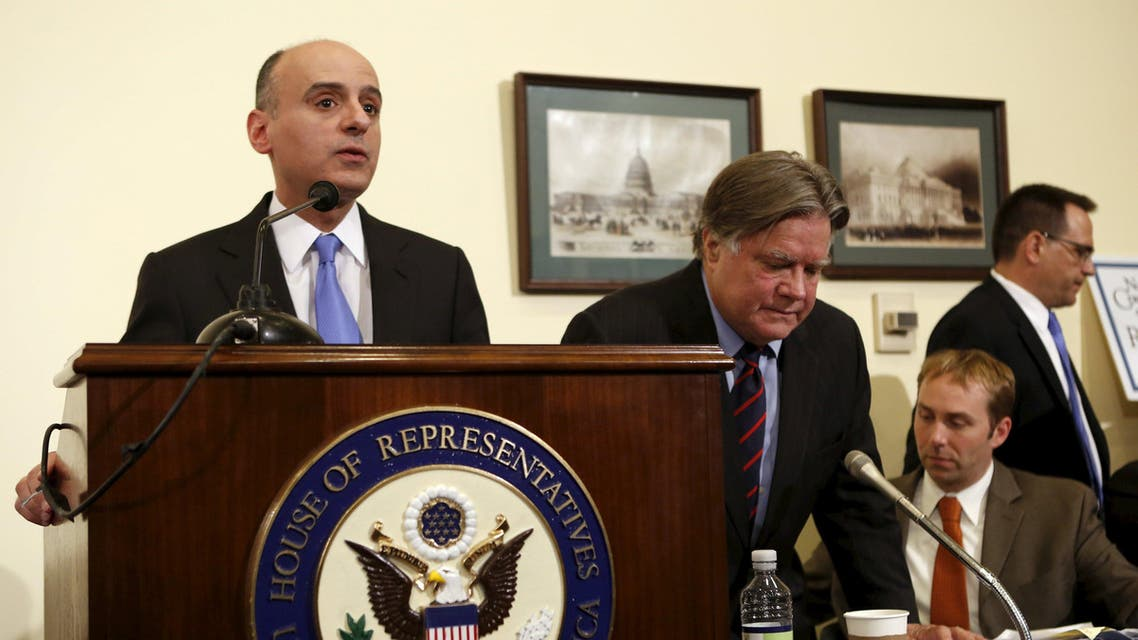 Saudi Arabia's ambassador to the United States Adel al-Jubeir speaks about the situation in Yemen in Washington April 2, 2015. (Reuters)