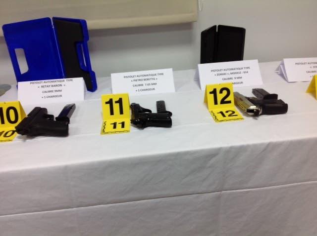 المحجوزات التي عثرت عليها الشرطة