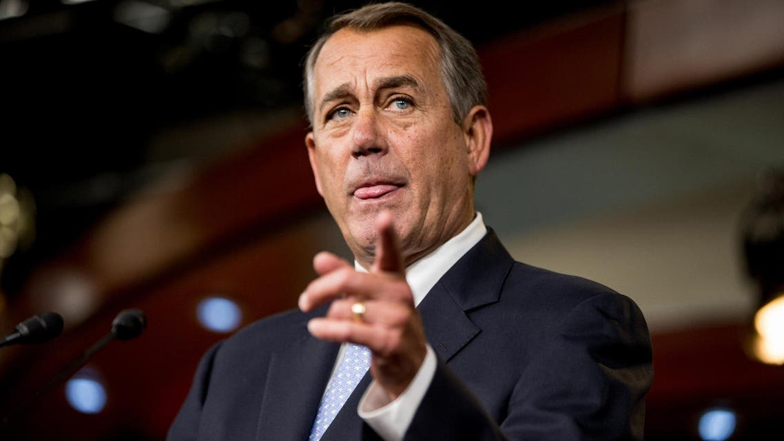 House Speaker John Boehner of Ohio speaks to members of the media during his weekly news Conference on Capitol Hill in Washington, Thursday, March 26, 2015. (File: AP)