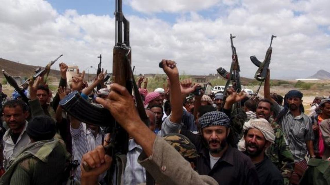 Southern People's Resistance militants loyal to Yemen's President Abd-Rabbu Mansour Hadi celebrate seizing the al-Anad air base in the country's southern province of Lahej March 22, 2015. (File: Reuters)