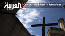 Christians celebrating Easter in Jerusalem