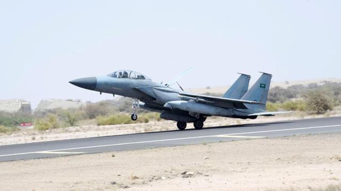 A jet takes off to participate in the Saudi-led air strikes on Yemen, at an airbase in an undisclosed location in Saudi Arabia in this April 2, 2015. (Reuters)