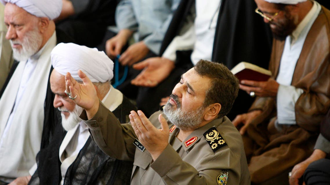 Chief of the General Staff of Iran's Armed Forces, General Hasan Firouzabadi, prays, during Friday prayer ceremony in the Muslims' holy fasting month of Ramadan, at the Tehran University campus, in Tehran, Iran, Friday, Aug. 13, 2010. (AP)