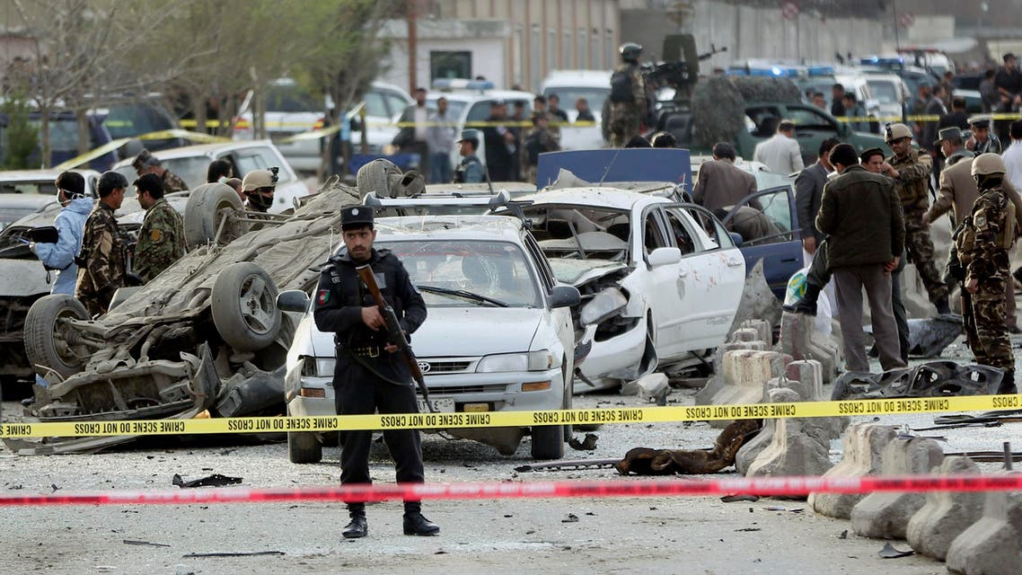 Afghanistan's security forces inspect the site of a suicide attack in Kabul, Afghanistan, Wednesday, March 25, 2015. (File: AP)