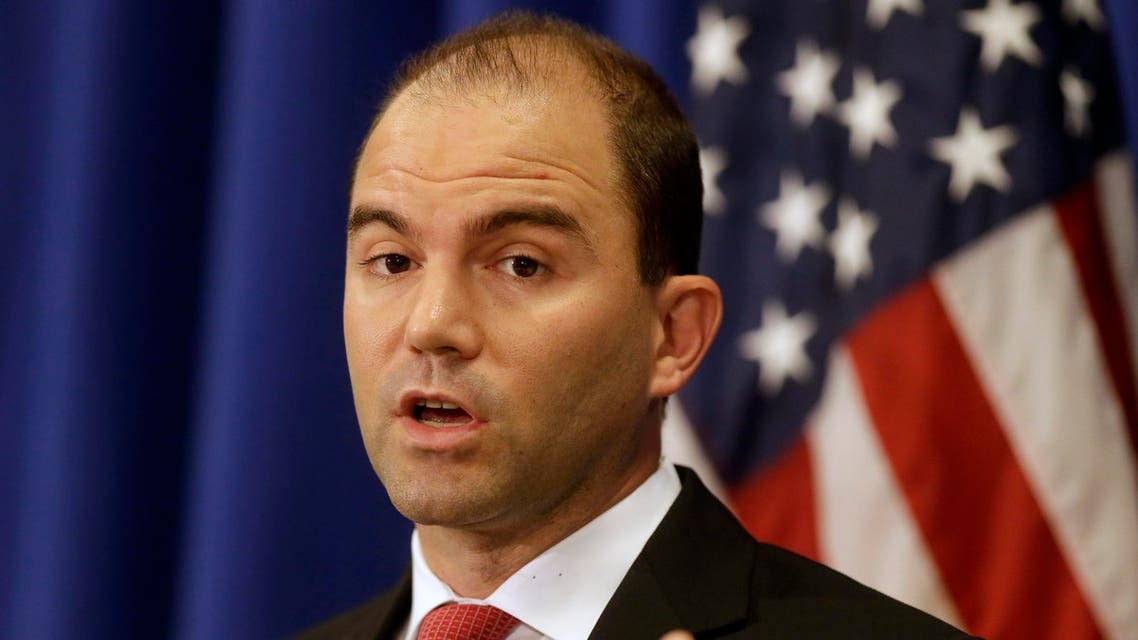 Deputy National Security Adviser for Strategic Communications and Speechwriting Ben Rhodes speaks to reporters during a press briefing in 2014. (File Photo: AP)