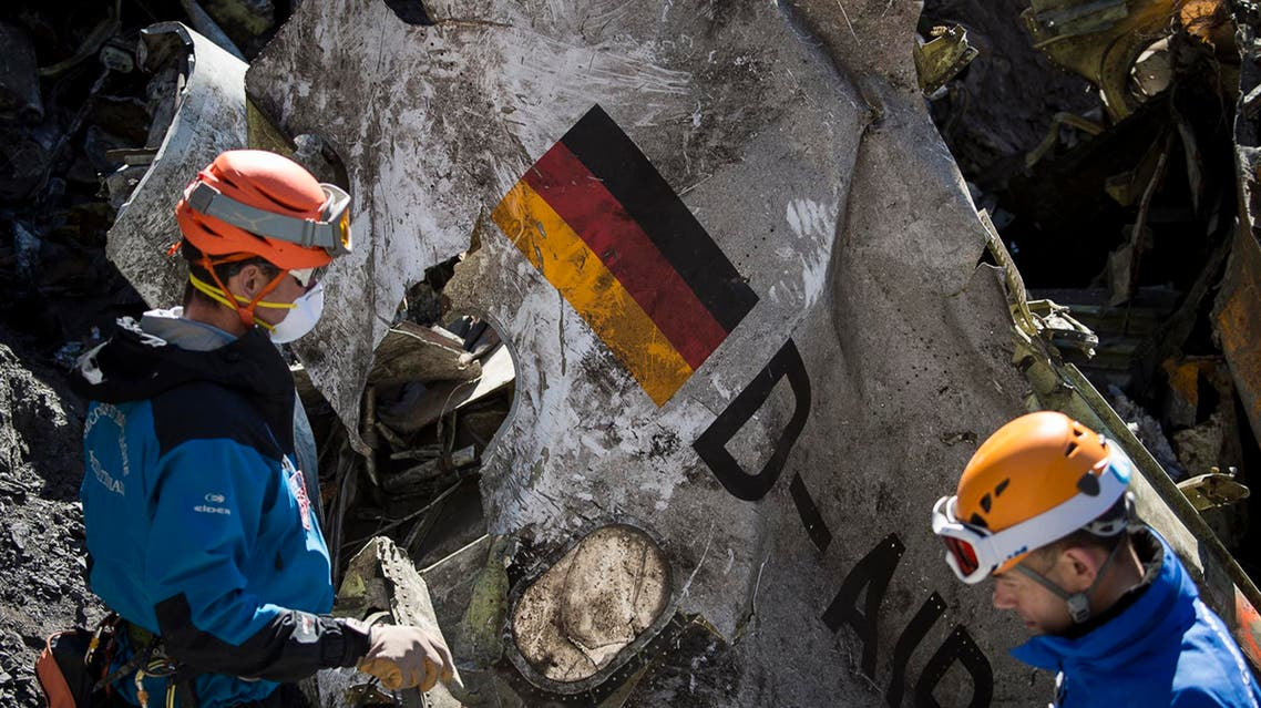 French emergency rescue services work among debris of the Germanwings passenger jet at the crash site near Seyne-les-Alpes, France. (File Photo: AP)
