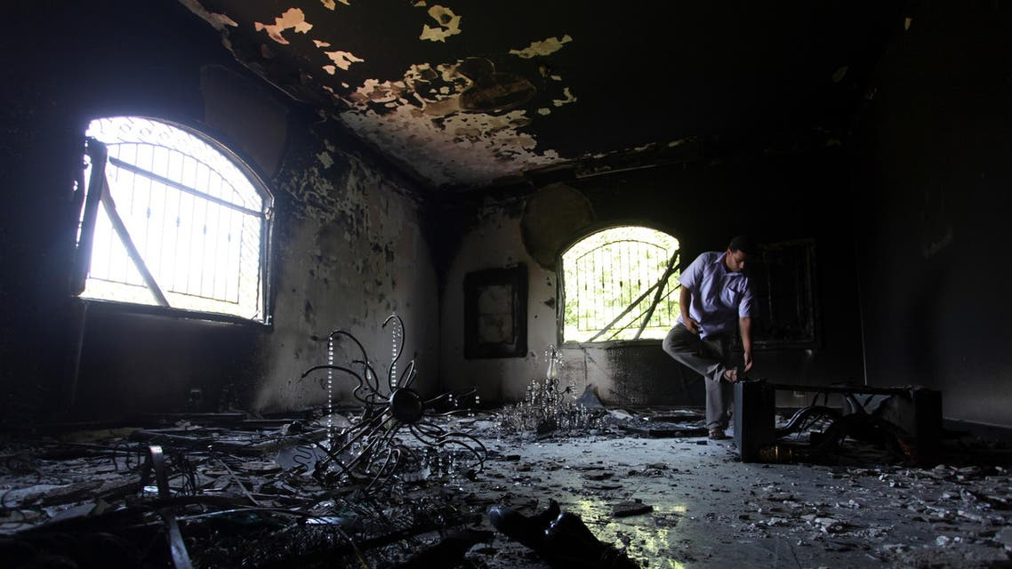 A Libyan man investigates the inside of the U.S. Consulate, after an attack that killed four Americans, including Ambassador Chris Stevens on the night of Tuesday, Sept. 11, 2012, in Benghazi, Libya, Thursday, Sept. 13, 2012. (File Photo: AP)