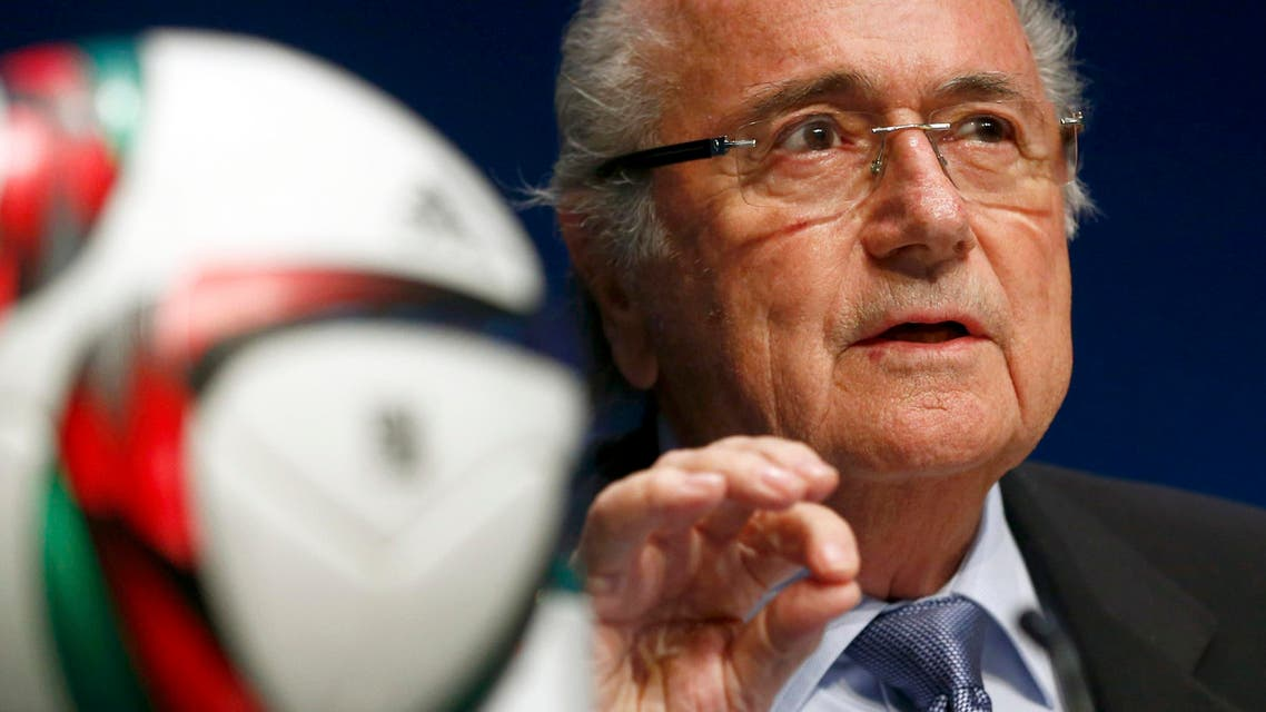 FIFA President Blatter addresses a news conference in Zurich. (File photo: Reuters)