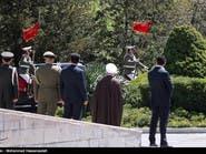 """#حرس الشرف #الإيراني استقبل #أردوغان براية """"يا حسين"""""""