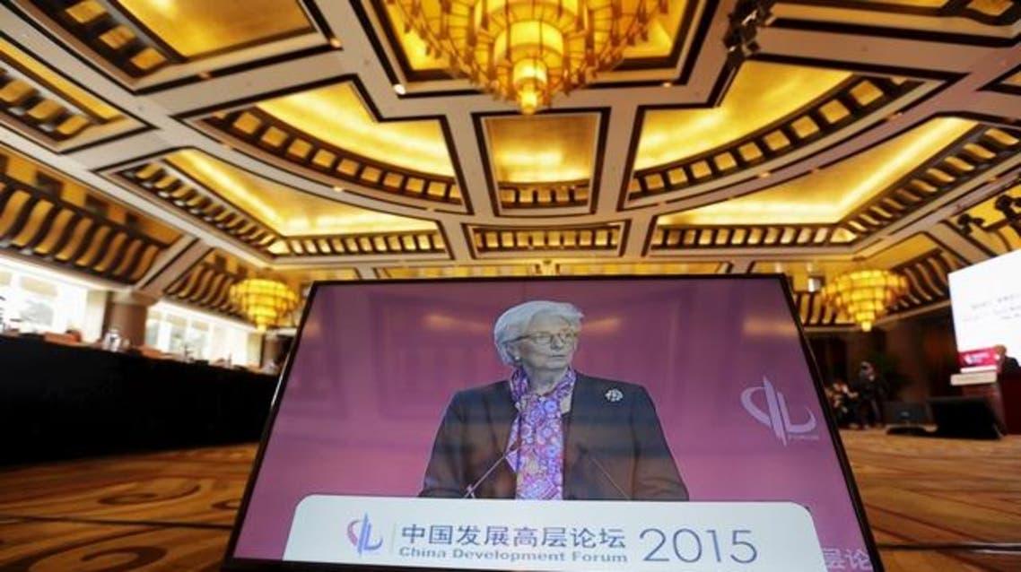 كريستين لاغارد رئيسة صندوق النقد الدولي البنك الآسيوي للاستثمار في البنية التحتية