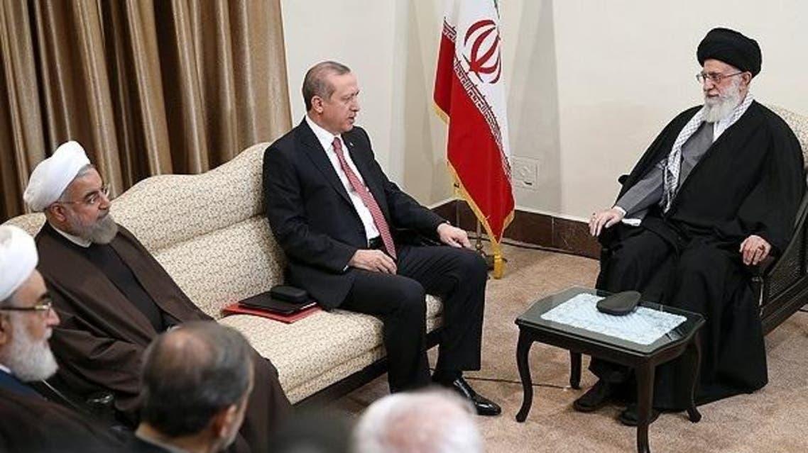 خامنئي مستقبلا رئيس تركيا أردوغان