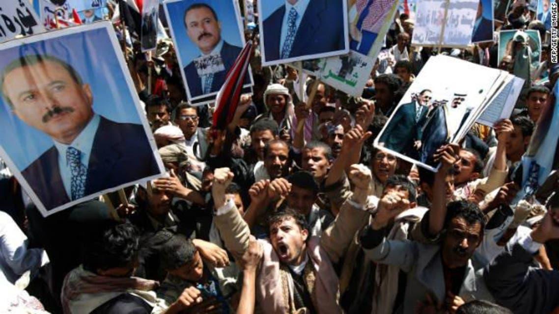Saleh - protest