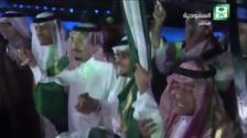 King Salman performs traditional Saudi dance at heritage site event