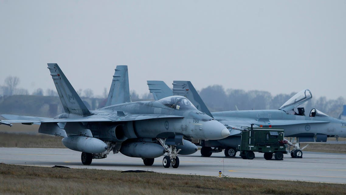Canada's CF-188 Hornet jet fighter prepares for take off. (File: AP)