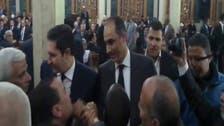 #علاء و #جمال #مبارك يظهران في عزاء والدة مصطفى بكري