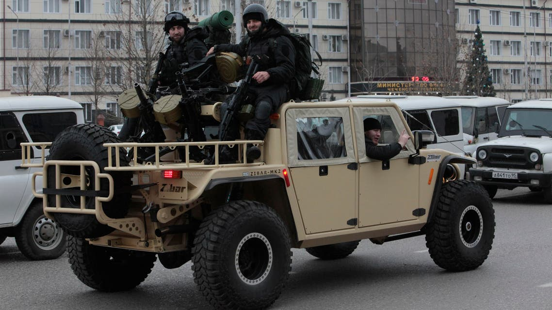 Chechen special forces guard an area around a stadium where Chechnya's regional leader Ramzan Kadyrov attends a rally in Grozny, Russia, Sunday, Dec. 28, 2014. (File photo: AP)
