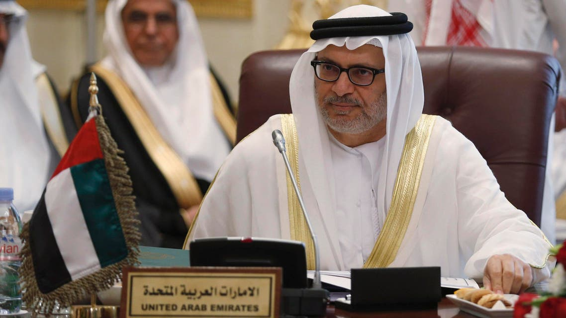 United Arab Emirates' Minister of State for Foreign Affairs Anwar Mohammed Gargash attends a GCC meeting in Riyadh March 12, 2015. (Reuters)