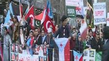 """يمنيون يتظاهرون في نيويورك تأييداً لـ """"عاصفة_الحزم"""