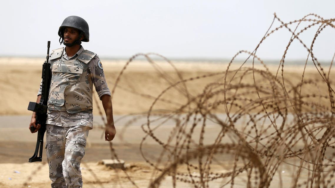 A Saudi border guard patrols Saudi Arabia's maritime border with Yemen along a beach on the Red Sea, near Jizan April 8, 2015. REUTERS