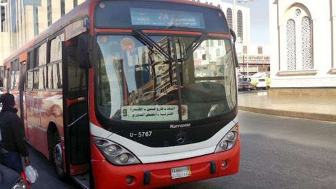 jeddah bus Police are yet to identify the man. (Photo courtesy: JeddahPoint.com)