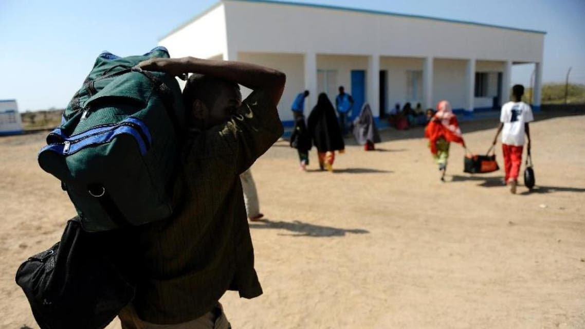 Around 900 people have crossed the Gulf Aden to Djibouti in just 10 days (AFP)