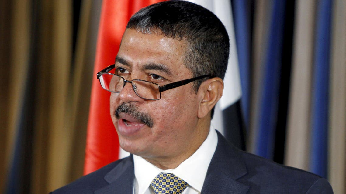 Yemen's newly-appointed Prime Minister Khaled Bahah addresses a news conference after his cabinet was sworn-in at the Presidential Palace in Sanaa in this November 9, 2014 file photo. (Reuters)