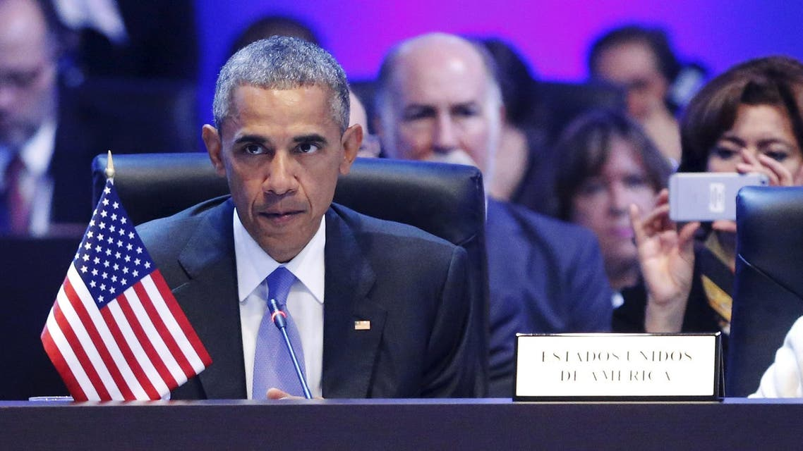 Obama holds a news conference at the conclusion of the Summit of the Americas in Panama City, Panama. (Reuters)